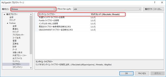 Release、Fortran、ライブラリー