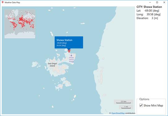 南極の昭和基地のデータ