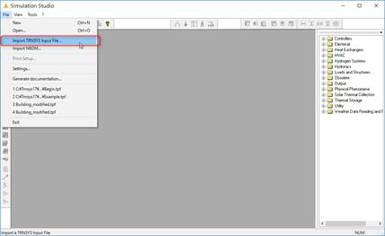 [File]-[Import TRNSYS Input File...]