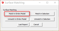 Match in Entire Model」をクリック