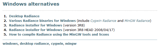 Windows alternatives