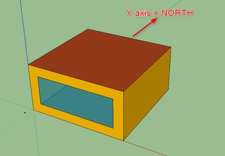 Y軸方向が北(180°)