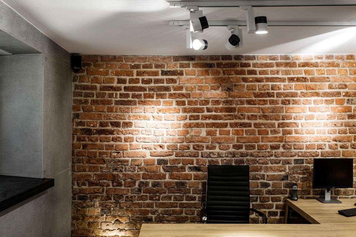 an idea for lighting brick and concrete