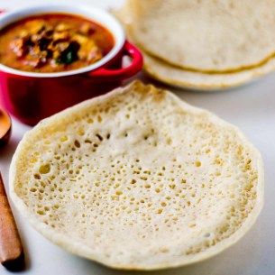 Brown Rice Appam, Kerala Appam made with brown rice - Kannamma Cooks