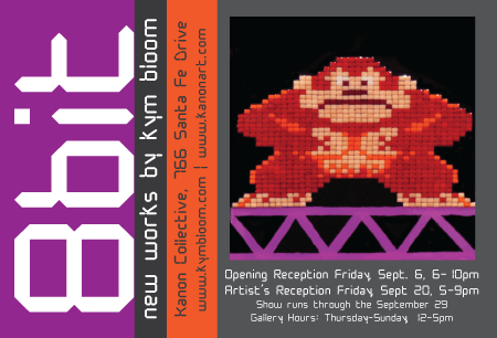 """""""8 Bit"""" featuring new works by Kym Bloom"""