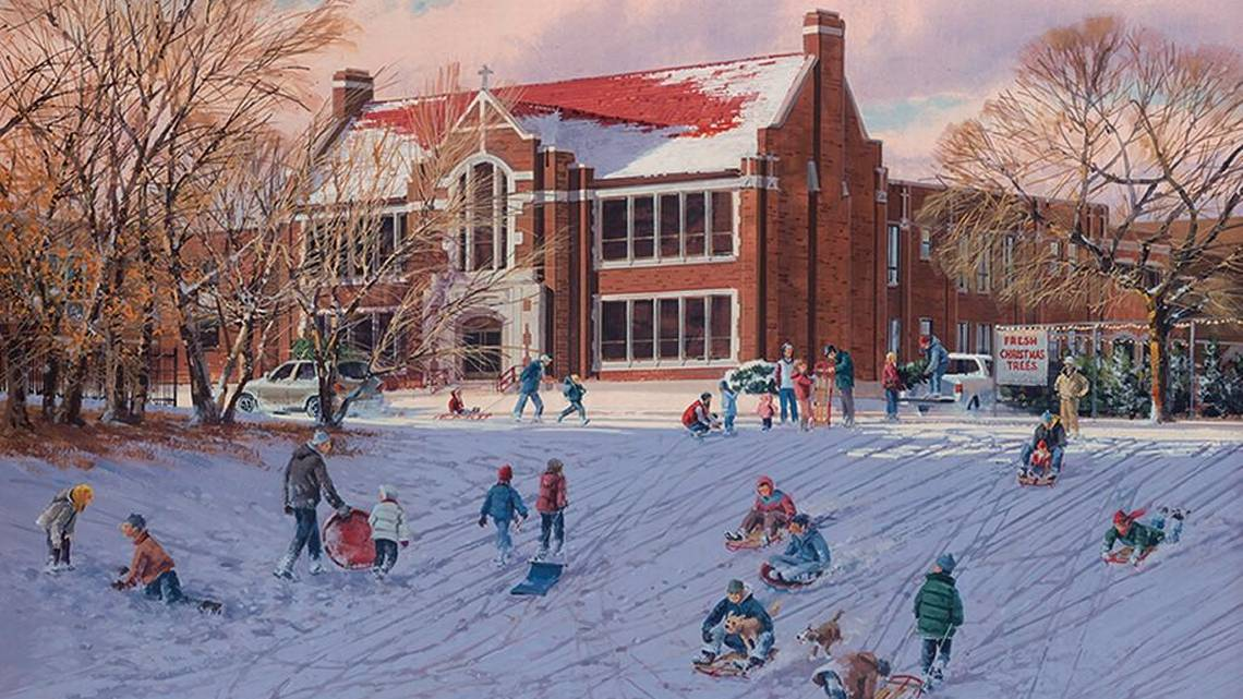 2016 Wichita Christmas Card Features College Hill Sledding