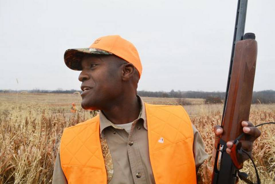 Eric Morris, the founder and president of the Black Wolf Hunting Club, is on a mission to get more African-Americans involved in hunting. He led a group last weekend on a hunting preserve.