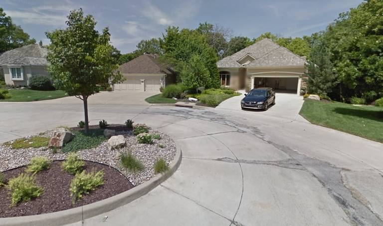 A woman was fatally stabbed in the 10200 block of South Shadow Circle in Olathe. The area is shown in the Google Maps view from July 2015.