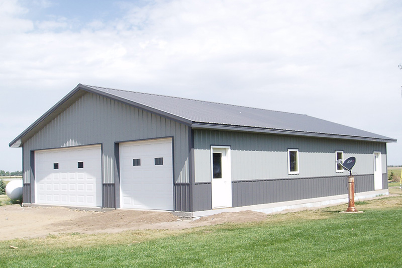 2 Car Garage In Inman Kansas Kansas Outdoor Structures