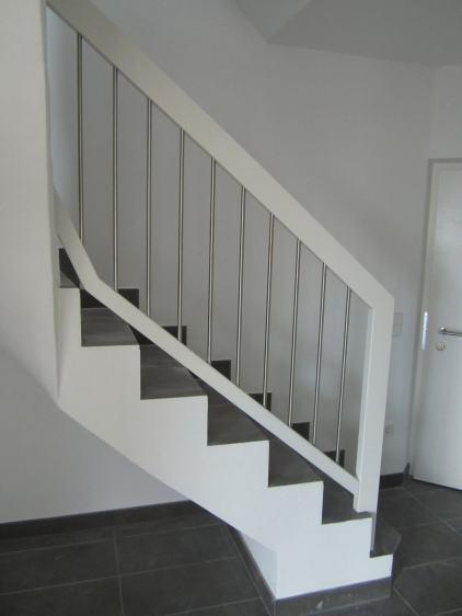 Treppengelaender Fantasy weiss lackiert