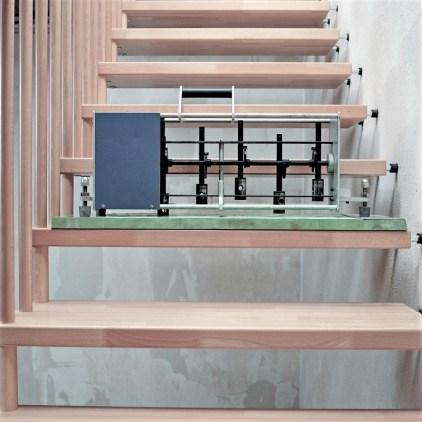 Interne Tests und Proben an realistisch gebauten Treppen