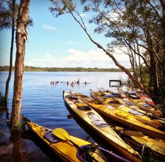 group kayak tour