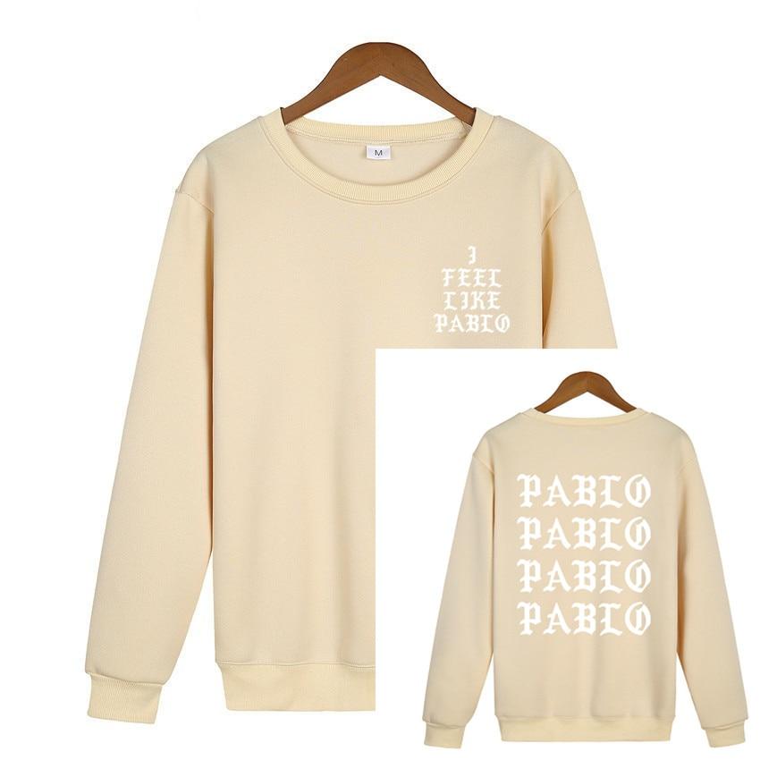 Kanye West Herren Damen Sweatshirt Kapuzenpullover Yeezus  I FEEL LIKE PABLO