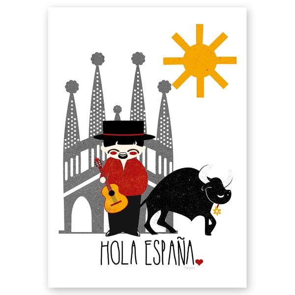 Affiche Pour Enfants Espagne Kanzilue La Boutique