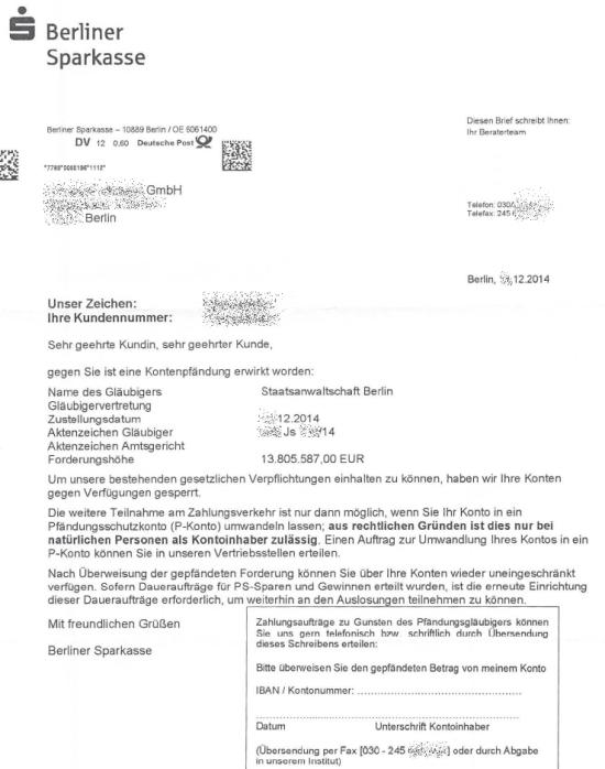 P-Konto für GmbH