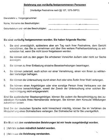 Wasserdichte Belehrung Polizei Kanzlei Hoenig Info Strafverteidiger In Kreuzberg Kanzlei Hoenig Berlin Fachanwalte Fur Strafrecht