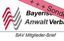 BAV Mitglieder-Brief mit Rezension zur Anwaltssoftware LawFirm