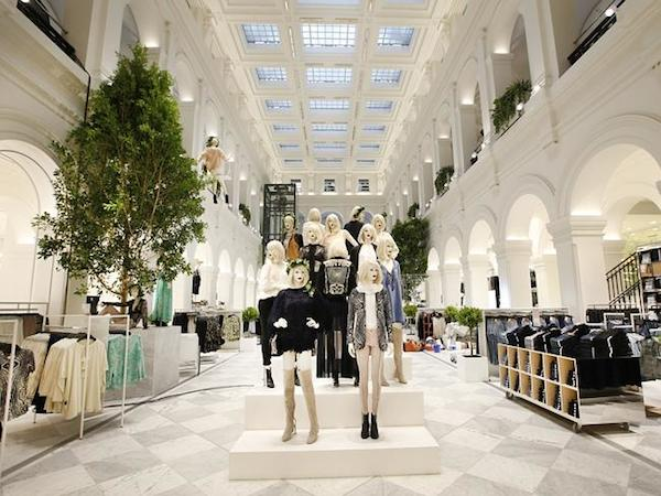 The flagship H&M store at the GPO, Melbourne, Australia -  Picture- David Caird. Source- News Limited