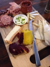 Cheese and meat board at The Agrestic Grocer, Orange Wine Tours