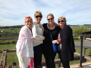 Ladies on deck at Borrodell Vineyard, Orange Wine Tours