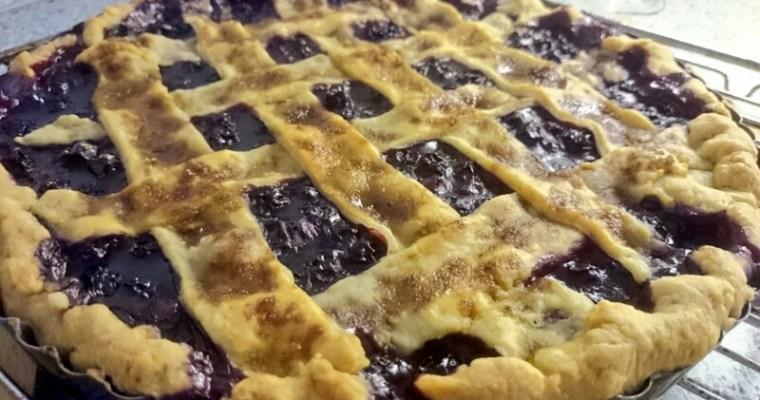 Søndagssommerkage med blåbær
