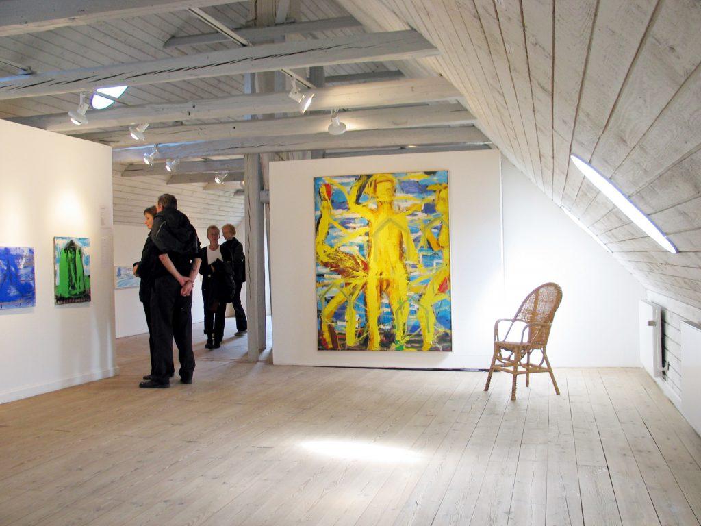 Innenansicht des Kunstmuseums auf Fanø