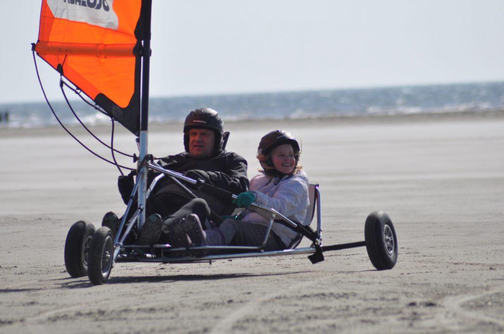 Blokart fahren am Strand - auf Fanø möglich
