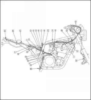 Lubrication Diagrams  Yamaha XJR 1300  Kappa Motorbikes