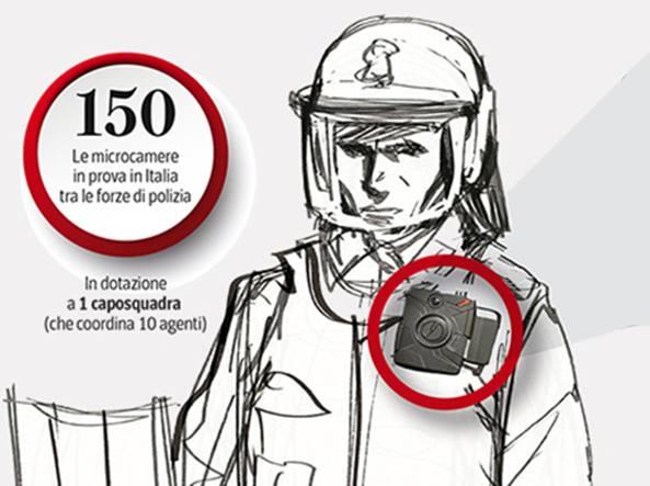 Telecamere sulla divisa per le prossime manifestazioni
