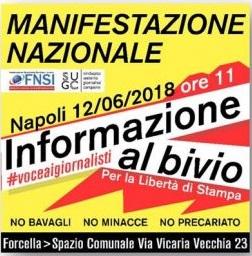 A Napoli la manifestazione nazionale dei giornalisti