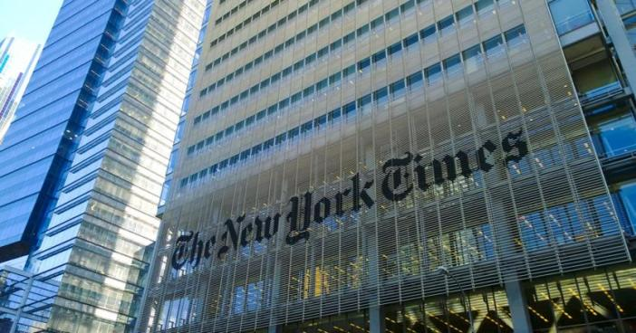 """La sede del giornale """"The New York Times"""""""