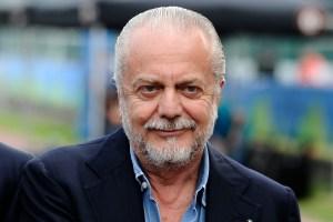 Il presidente del Napoli Calcio Aurelio De Laurentiis