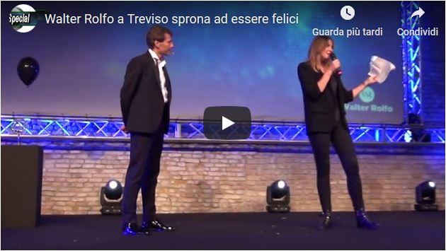 Walter Rolfo a Treviso sprona ad essere felici