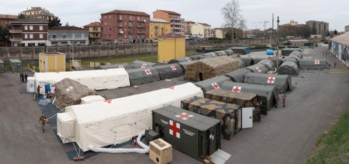 Covid19, operativo anche ospedale da campo a Piacenza