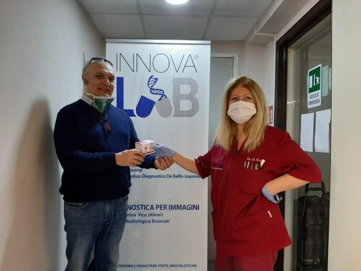 Covid 19: Innovalab dona kit di ultima generazione per la diagnosi all'ASL NA1 Centro