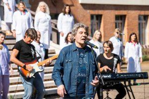 Fausto Leali canta per Spedali Civili di Brescia