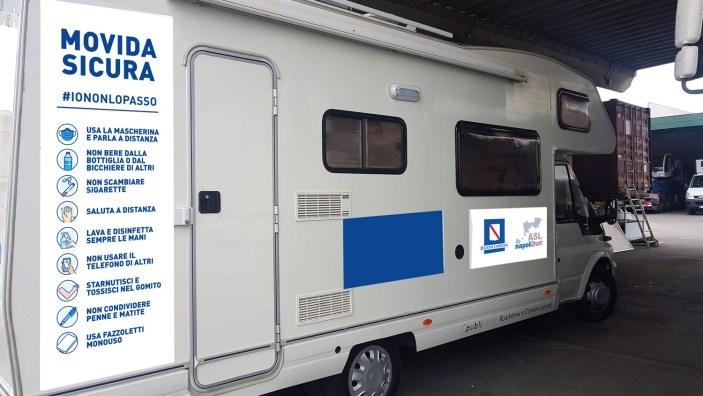 Il COVID19 #iononlopasso: Camper nelle piazze della movida