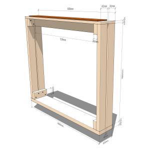 Fingerboard radius jig - Inner frame