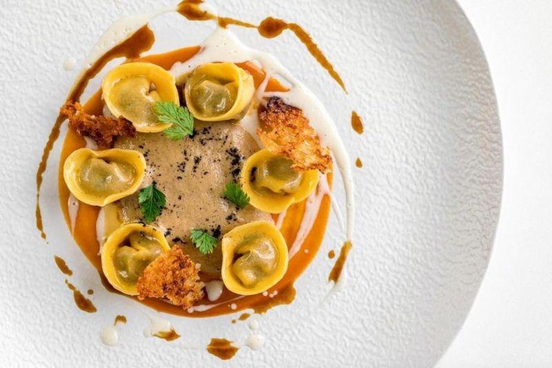 Piatto del ristorante stellato da Vittorio