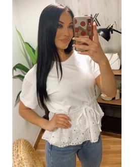 Camiseta rizo/encaje