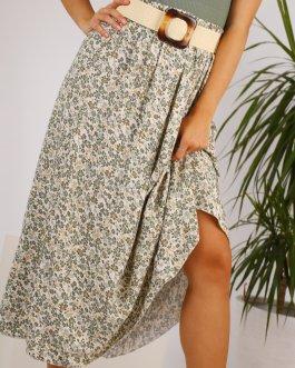 Falda larga estampada 1305