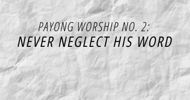 never neglect his word