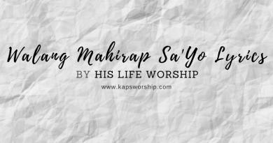 walang mahirap sayo lyrics by his life worship
