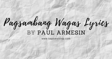 pagsambang wagas lyrics by Paul Armesin