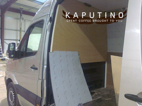 Kaputino Mobile Coffee Van Conversion underway