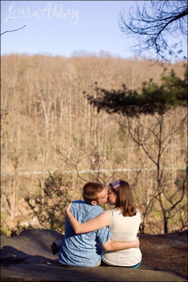 Laura Jake Ohiopyle PA Wedding Engagement