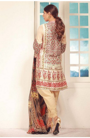 The silk back complements the embroidered chiffon front