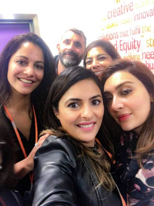 With Cybil and Aisha, photographer Steve and Fareshte Aslam of PR company Talking Point