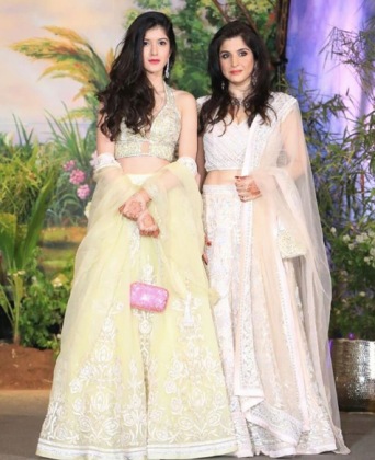 Shanaya and Mahdeep Kapoor at the Wedding Reception