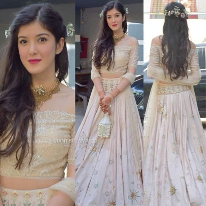 Shanaya Kapoor slaying in her Lehnga Choli